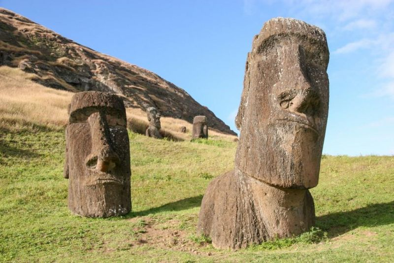 Big Stone Heads Easter Island